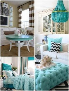 Turquoise interior design ideas | http://homedesigncollections.blogspot.com