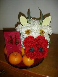 Cabrita floral. Mascotas florales.