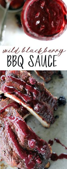 Sweet, fruity and tangy, our Wild Blackberry BBQ Sauce is lip-smacking good. Try it on ribs, chicken and more. Made with fresh hand-picked wild blackberries. via @Buy This Cook That