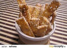 Tyčinky ze zkyslé smetany recept - TopRecepty.cz Snack Recipes, Snacks, French Toast, Chips, Breakfast, Pizza, Food, Snack Mix Recipes, Breakfast Cafe