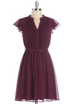 Thesis, That, and the Other Thing Dress. With your espresso sitting at one side of this cranberry dress and your thesaurus at the other, you delve into your dissertation. #purple #modcloth