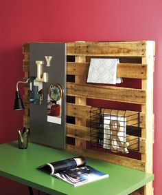 Summer to-do list:  build a desk.  I like the texture and function the pallet brings, just not sure if I have the wall space.