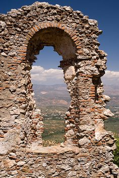 "Mystras Ruins, Greece......... ""Freedom is the open window through which pours the sunlight of the human spirit and human dignity.""  Herbert Hoover"
