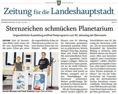 Today I'll give you the newspaper at breakfast, at least one to several reports on our Zodiac show;-) http://frankkoebsch.wordpress.com/2012/07/04/medienecho-fur-unsere-ausstellung-zum-sternzeichen-buch/