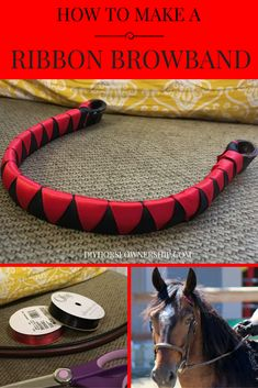 Do It Yourself DIY: How to Make a Ribbon Browband for your horse or mule. Horse Camp, Horse Gear, Horses And Dogs, Show Horses, Horse Ribbons, Horse Treats, Horse Bridle, Horse Halters, Horse Costumes