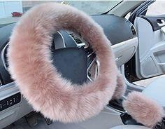 Matériau: imitation laine. Compatible: Pour volant) 38 x 38 cm Inclus une housse de volant, un frein à main de couverture et de couverture. De belles couleurs vives pour votre choix. Laine Super doux et luxueux, gardez vos mains au chaud en hiver.