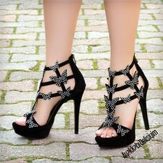 Filay Siyah Kelebekli Topuklu Tasarım Ayakkabı