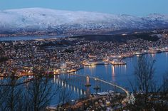 Tromso, Norway. My Aunt lives right along the shore, just north of the bridge!