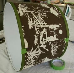 How to cover lampshades with fabric and trim.  In case I get really brave and decide to do this...