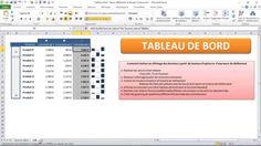 Excel - Tableau de Bord  avec  Barre Défilement  et Bouton Option (Modul...