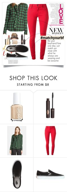 """#matcyourbf"" by josefine-sp on Polyvore featuring beauty, Essie, Charlotte Tilbury, RED Valentino, Burberry, Vans, Clarins and matchyourbf"