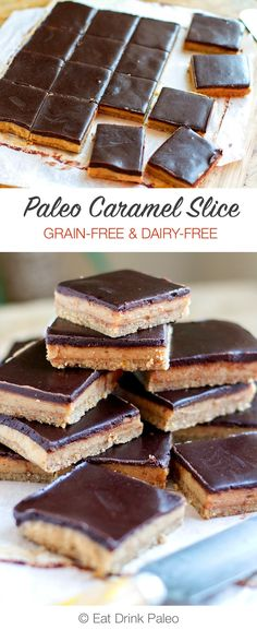 No Bake Paleo Caramel Chocolate Slice