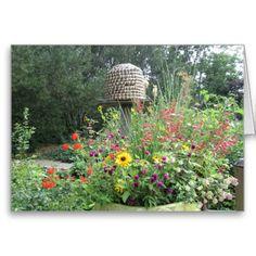 Honey #Bee Habitat Card http://www.zazzle.com/MarshaIsArt*
