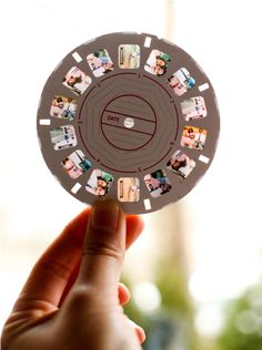 wedding photos in a viewfinder for guests to look at ~ photo slideshow alternative