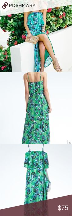 Banana republic multi color maxi dress Cute with or without straps as seen in photo. Banana Republic Dresses Maxi