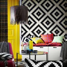 "Amazon.com - Ikea LAPPLJUNG RUTA Rug 6 ' 7 "" x 6 ' 7 "" low pile, white, black NIP New - Area Rug Sets"