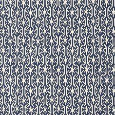Tissu géométrique bleu Rinca - Thibaut - Au fil des Couleurs