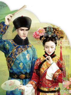 Ancient Chinese fashion 恋姬采集到蝶双飞(205图)_花瓣插画/漫画