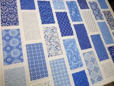 """""""Spa"""" fabric by Deb Strain, Classic Blue and White."""