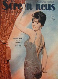 "Natalie Wood on the cover of ""New Screen News magazine, Australia, September 27th 1963."