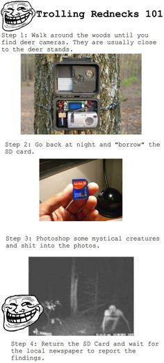 Trolling the Hunters.        ahhhhhahahahahaha!!!! this is  TOTALLY something i'd do.