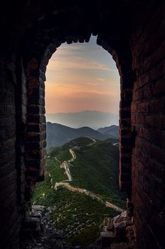 Amazing view from the Ruins of a Gate  -  The Great Wall of China