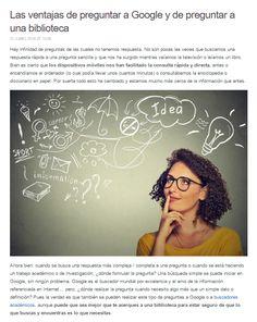 Las ventajas de preguntar a Google y de preguntar a una biblioteca / @julianmarquina | #readyforreference