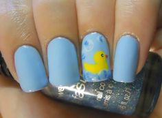 Holy Manicures: Rubber Duck Nails.
