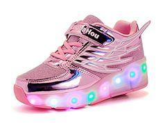 Mr.Ang zapatos de skate luces LED coloridos parpadeante neutra ruedas de  patines de rueda patín zapatos Zapatos del patín zapatos deportivos niños y  niñas ... b4565e98976d9
