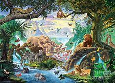 Africa Digital Art - Jungle Five by Steve Crisp