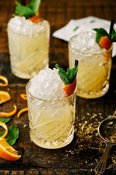 12 gin and tea cocktails you're going to want to make at home asapghkuk Iced Tea Cocktails, Cocktail Recipes, Sweet Cocktails, Cocktail Garnish, Fig Wine, Cape Gooseberry, Apple Tea, Brewing Tea, Summer Desserts