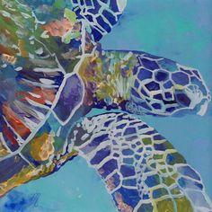 Honu Kauai Sea Turtle 12x12 print from Kauai Hawaii by kauaiartist, $45.00