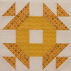 """great block-- no directions but looks like you'd need squares to finish @ 2.5"""" to work. Makes a 12.5"""" block"""