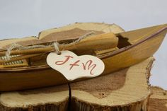 Rustic Canoe Cake Topper with personalized heart by Rusticblend, $20.00