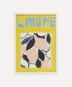 Chiara Perano - A3 Framed Limone Print Bold Prints, Wall Art Prints, Framed Prints, Framed Art, My Christmas Wish List, Christmas Gifts, Dark Ink, Liberty Fabric, Best Candles