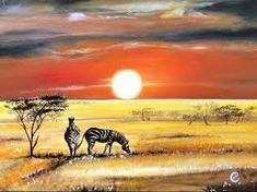 I used a lot of vibrant colors, like Cadmium Yellow Hue or Brilliant Red, but… Watercolor Landscape, Watercolor Paintings, Watercolor Ideas, Watercolours, Africa Safari Lodge, Watercolour Tutorials, Painting Tutorials, Acrylic Painting For Beginners, Africa Art