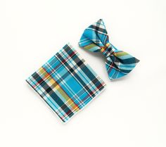 Blue plaid bow tie Pre-tied Scottish blue bow tie pocket square gift for men wedding bow tie blue plaid bow tie groomsmen uk by TheStyleHubTrends on Etsy