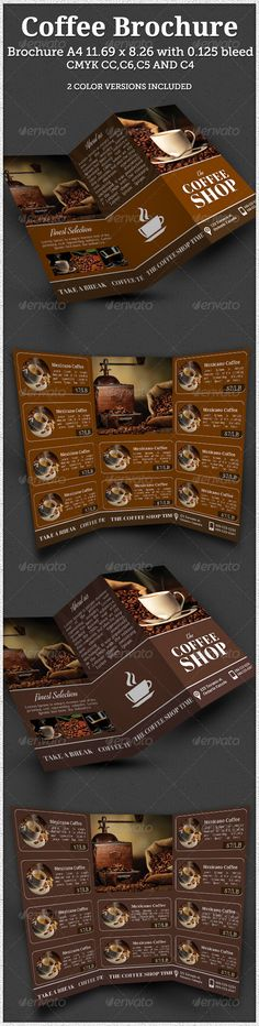 Coffee Benefits Brochure Coffee benefits, Brochures and Brochure - coffee shop brochure template