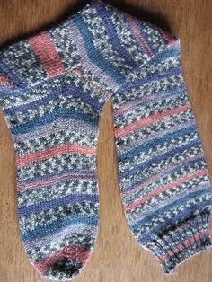 Knitted Intarsia Socks.