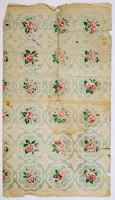 Beautifully distressed vintage paper (useful printable for miniature napkins, cloth on dresser, single rosette under cake plate etc.) | Source: Vintage Images