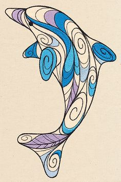 Doodle Dolphin | Urban Threads: Unique and Awesome Embroidery Designs