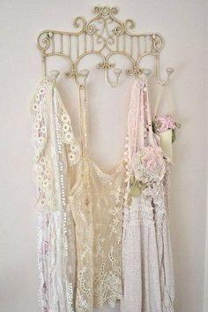 Shabby in love-pretty lingerie displayed on metal rack