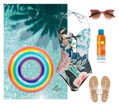 """""""Pool  Time"""" by coolmommy44 ❤ liked on Polyvore featuring Mara Hoffman, Head Over Heels by Dune and poolparty"""