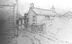 Ruyral Lane Line Drawing
