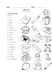 English Worksheets: HAPPY HOUSE 1 - TEST