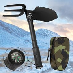 BABAN Army Military Folding Spade Shovel Black Steel Mini Camping Shovel Tool: Amazon.co.uk: DIY & Tools