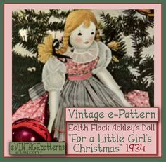 Edith Flack Ackley Vintage 16 Doll Pattern A Doll for a Doll Clothes Patterns, Doll Patterns, Sewing Patterns, Bonnet Pattern, Thing 1, Doll Stands, How To Make Shoes, Doll Maker, Wooden Dolls