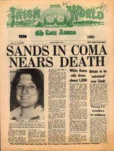 May 1981 Irish Republican Army hunger-striker Bobby Sands died at the Maze Prison in Northern Ireland on his day without food. He had just been elected to a seat in Parliament while still serving the last of a sentence for possession of firearms. Bobby Sands, Northern Ireland Troubles, Irish Independence, Irish Republican Army, The Ira, Ireland Travel, Ireland Food, Ireland Map, Irish People