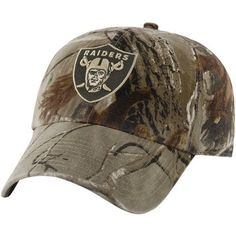 27bc0aca1 NFL  47 Brand Oakland Raiders Franchise Fitted Hat - Realtree Camo - Amazon