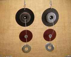 Handmade Industrial Hardware Earrings with  grindings wheels-washers-stainless steel wire. Handmade Industrial Hardware Earrings with  grindings wheels-washers-stainless steel wire. 🔎zoom Item details Shipping & Policies FREE SHIPPING WORLDWIDE!!!  Handmade Industrial Hardware Earrings with grinding wheel-washers-stainless steel wire.  Ιn my shop I present my new collection by Hardware and Industrial Jewelry's Each piece of the collection is unique and not repeated. By purchasing any…